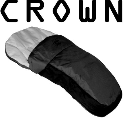 CROWN Warmer Fuss/Schlafsack Kombi BLACK für Kinderwagen
